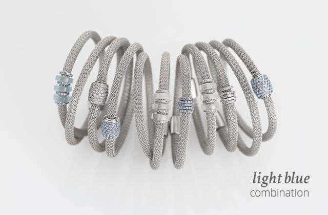 Silver Combination LOL Light-blue | ECLAT Preziosi