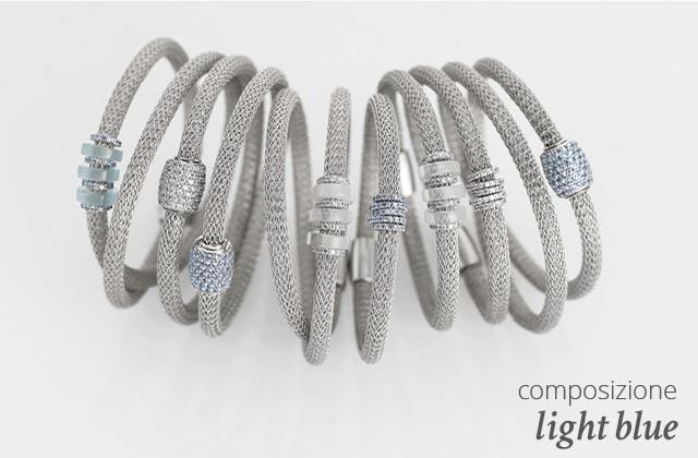 Collezione LOL Bracciali Argento Composizione Light Blue | ECLAT Preziosi