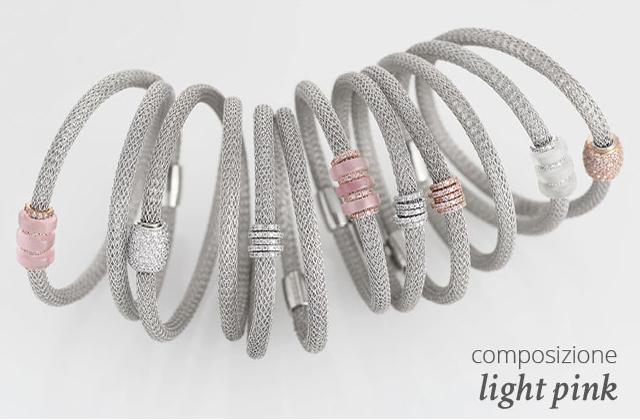 Collezione LOL Bracciali Argento Composizione Light Pink | ECLAT Preziosi