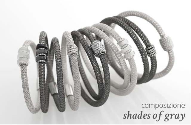 Collezione LOL Bracciali Argento Composizione Shades of Gray | ECLAT Preziosi