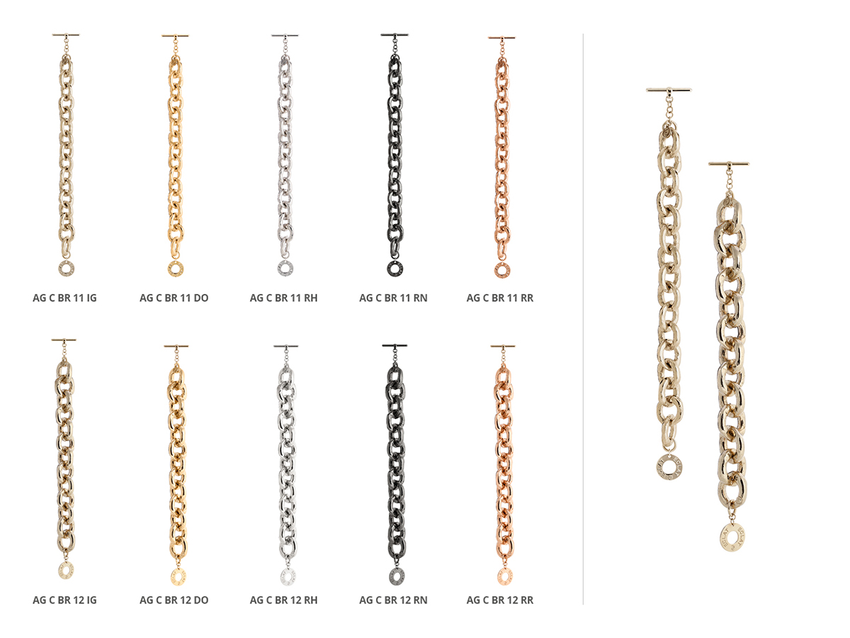 Silver Bracelets Hammer Collection 142 | ECLAT Preziosi