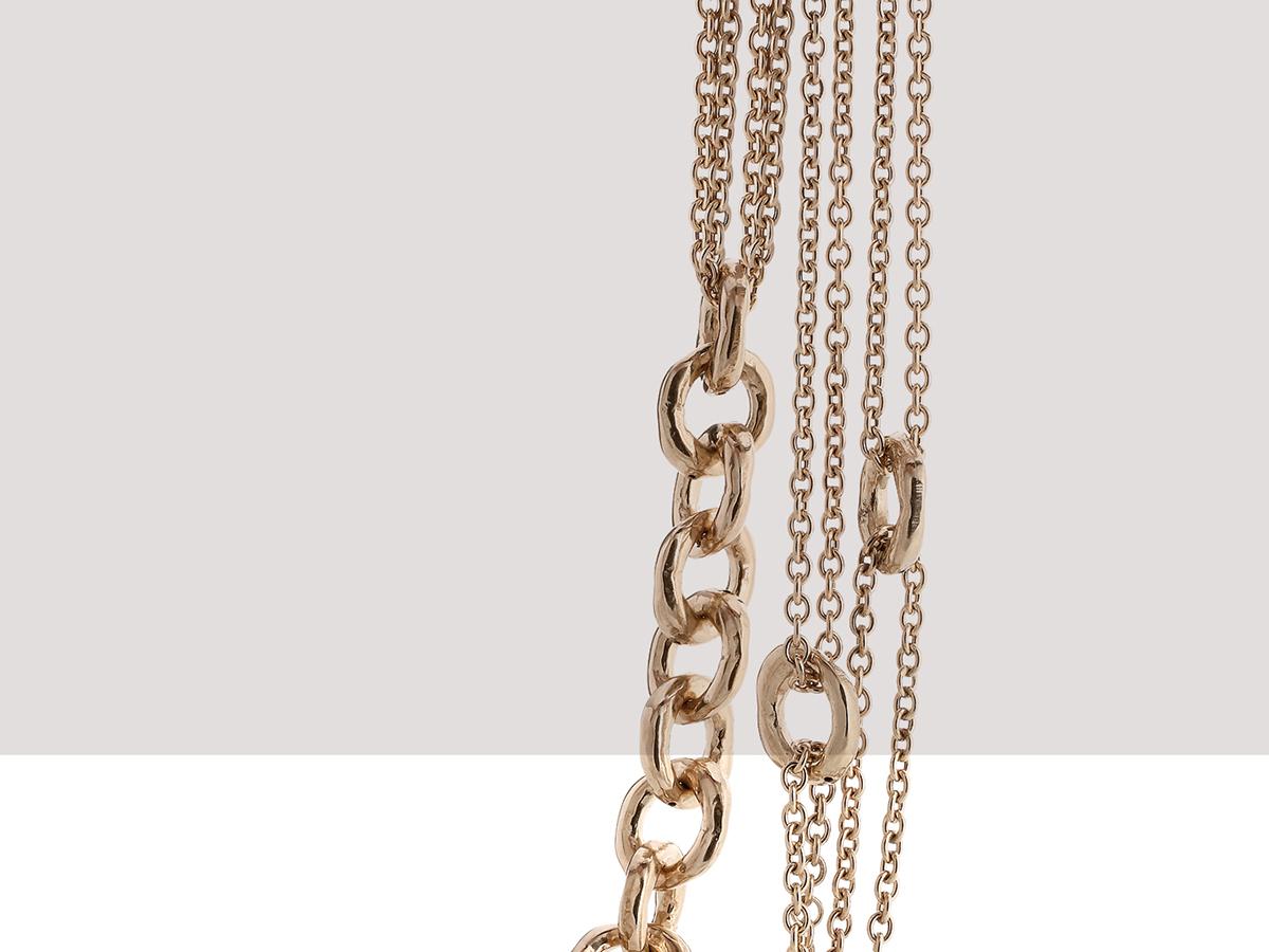 Silver Necklace Hammer Collection 143 | ECLAT Preziosi