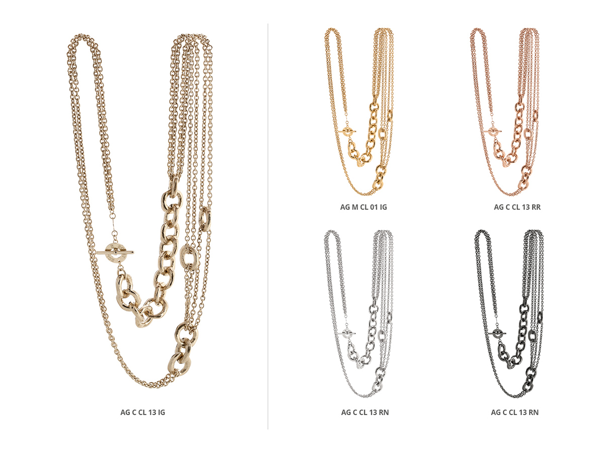 Silver Necklaces Hammer Collection 141 | ECLAT Preziosi