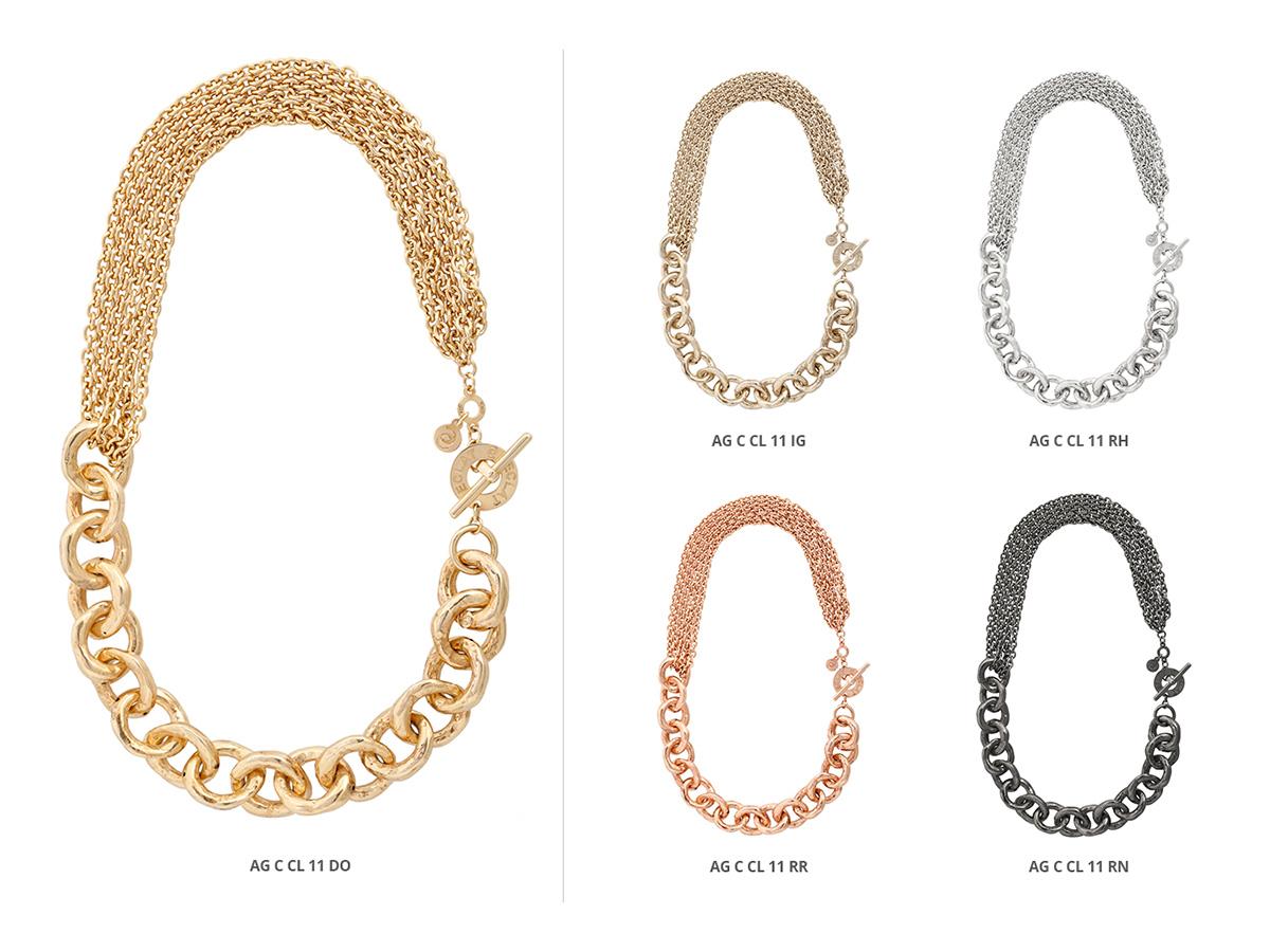 Silver Necklaces Hammer Collection 140 | ECLAT Preziosi