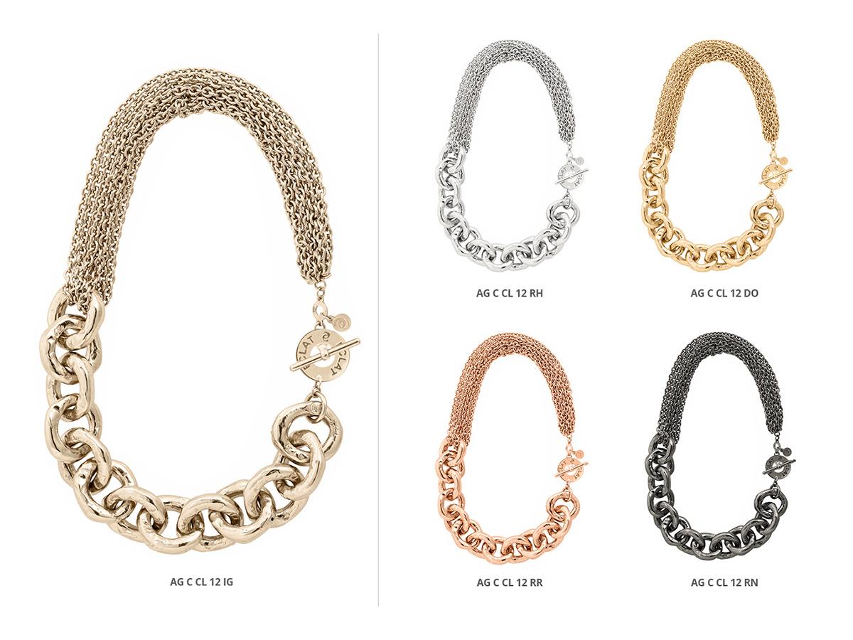 Silver Necklaces Hammer Collection 139 | ECLAT Preziosi