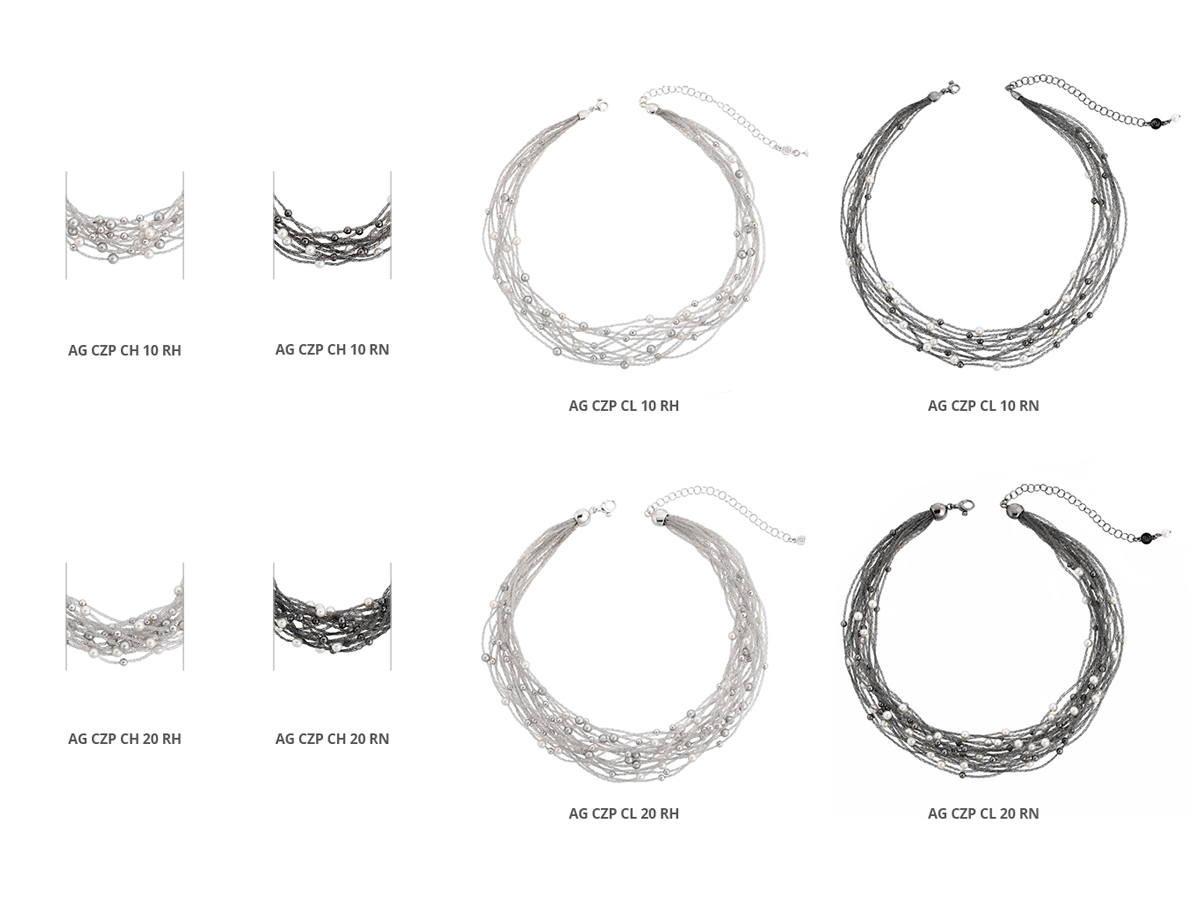 Silver Necklaces Verve Collection 113 | ECLAT Preziosi