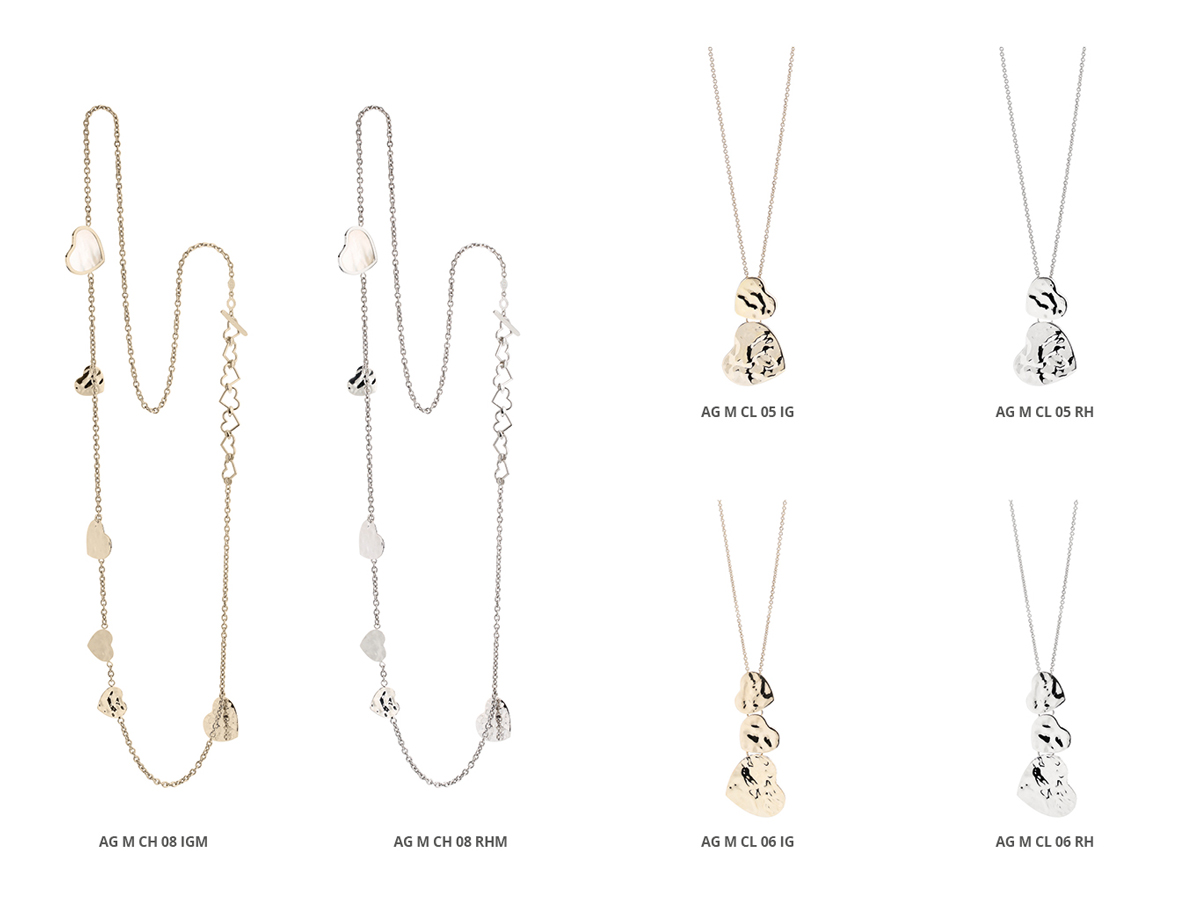 Silver Necklaces Flamme Collection 149 | ECLAT Preziosi