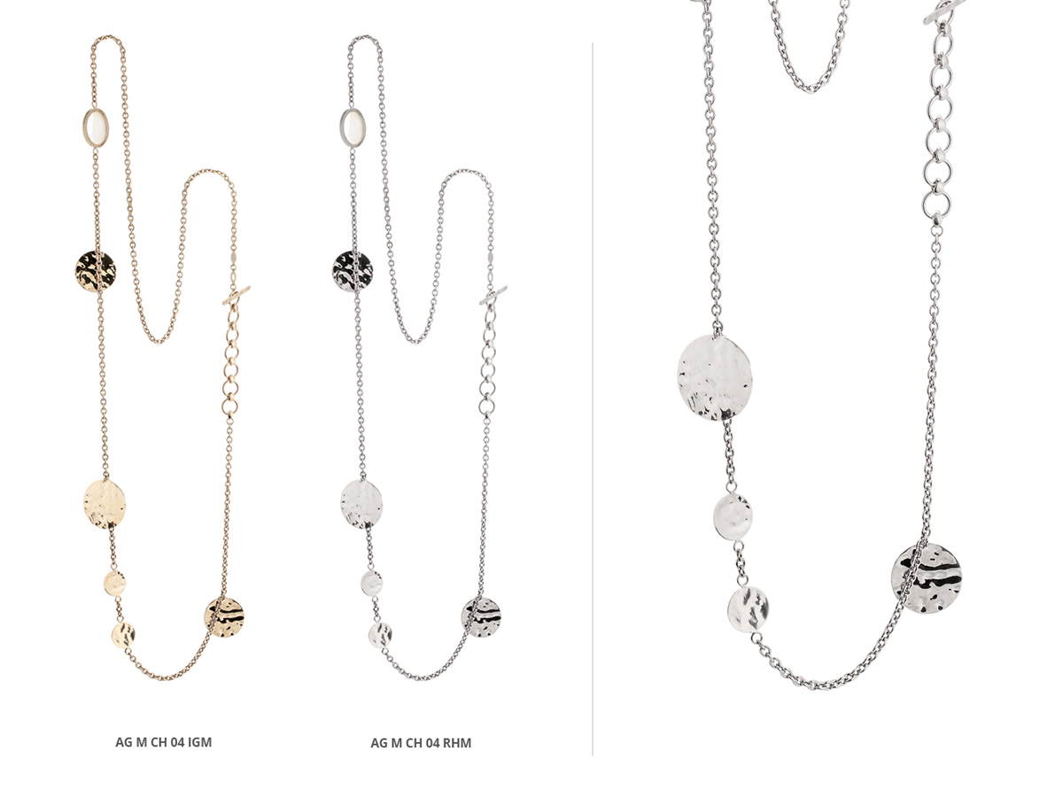 Silver Necklaces Flamme Collection 147 | ECLAT Preziosi