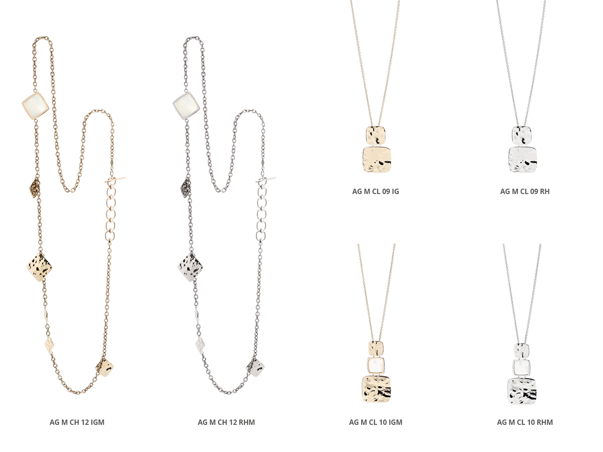 Silver Necklaces Flamme Collection 150 | ECLAT Preziosi