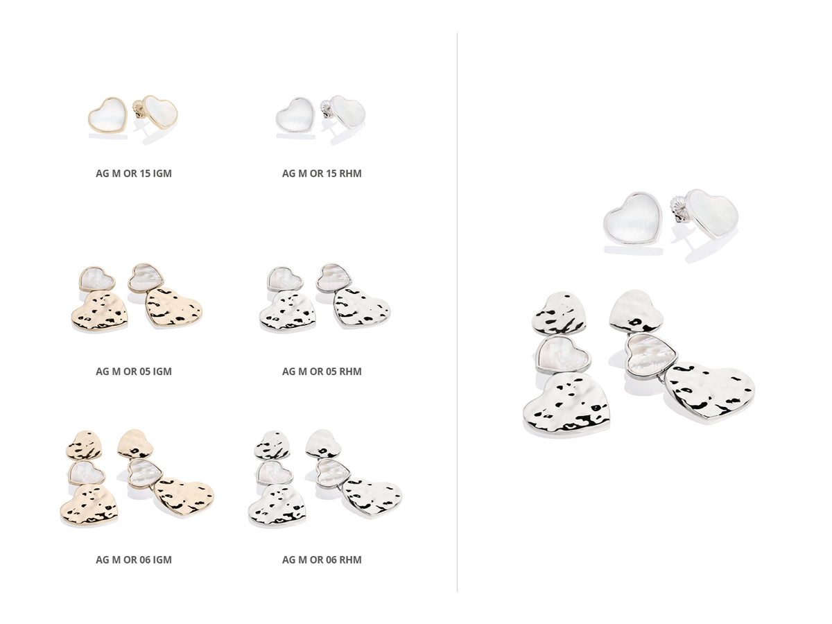 Silver Earrings Flamme Collection 146 | ECLAT Preziosi