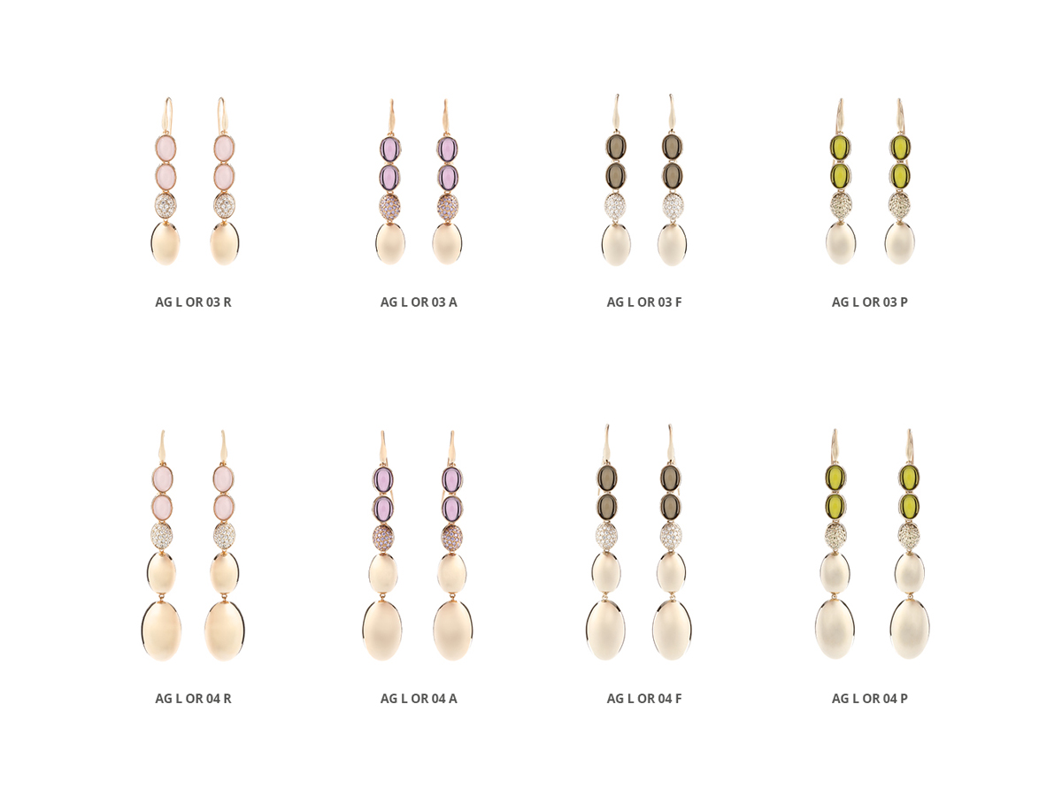 Silver Earrings Luminescence Collection 119 | ECLAT Preziosi