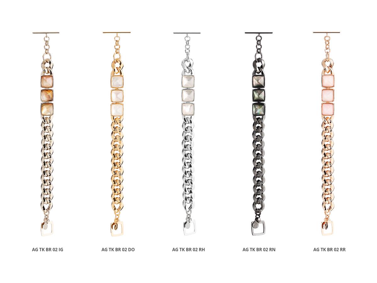 Silver Bracelets Tank Collection 134 | ECLAT Preziosi