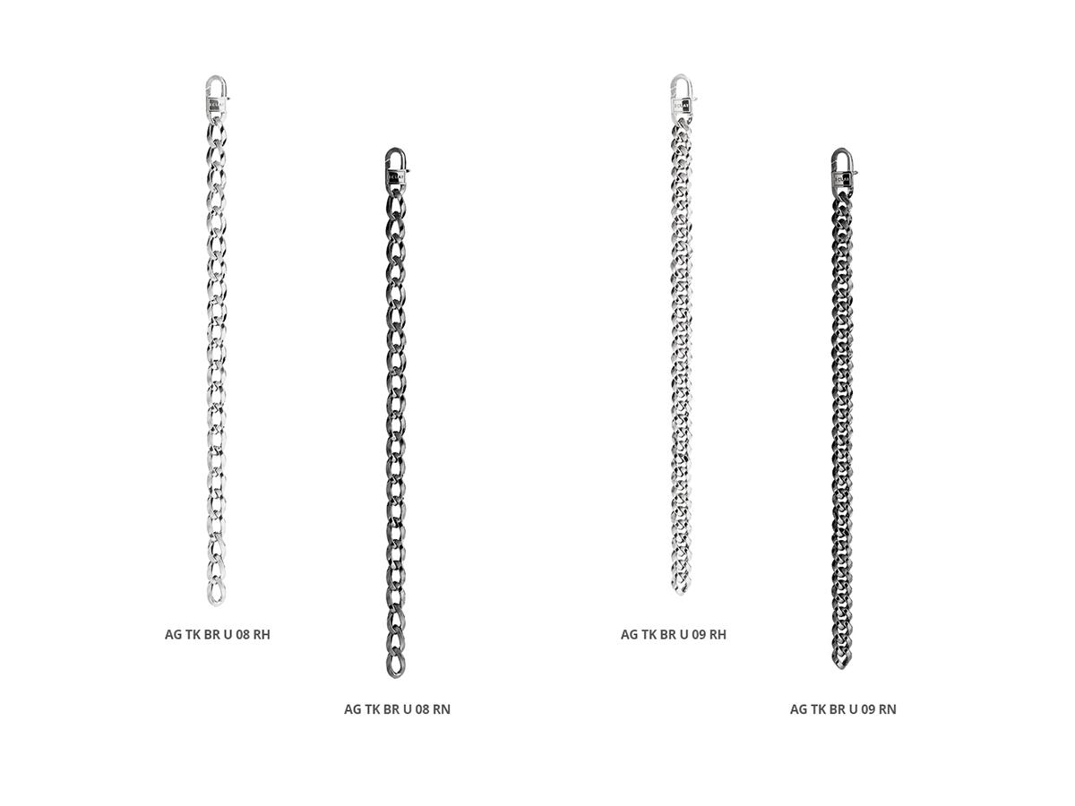 Silver Bracelets Tank Collection 131 | ECLAT Preziosi