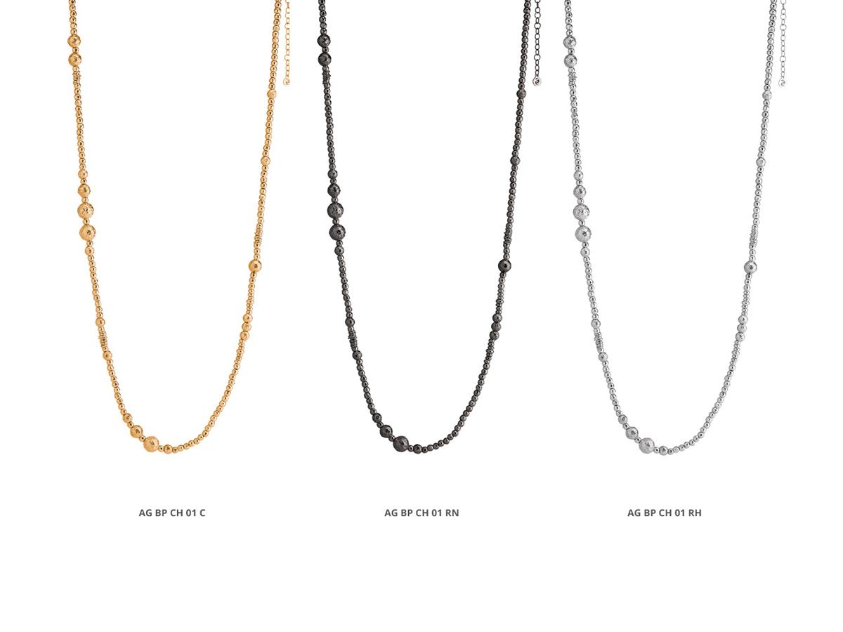 Collezione Boule Pearl Collane Argento 25 | ECLAT Preziosi