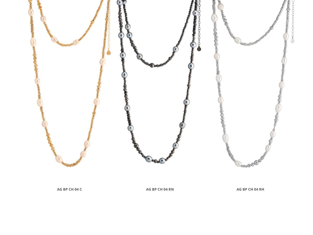 Collezione Boule Pearl Collane Argento 24 | ECLAT Preziosi