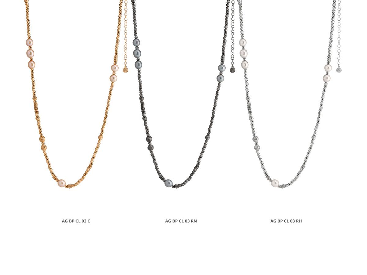 Collezione Boule Pearl Collane Argento 22 | ECLAT Preziosi
