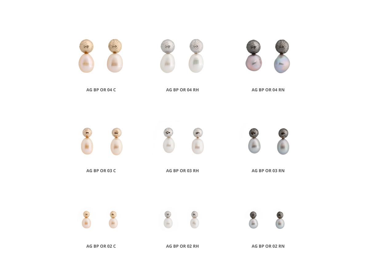 Collezione Boule Pearl Orecchini Argento 30 | ECLAT Preziosi