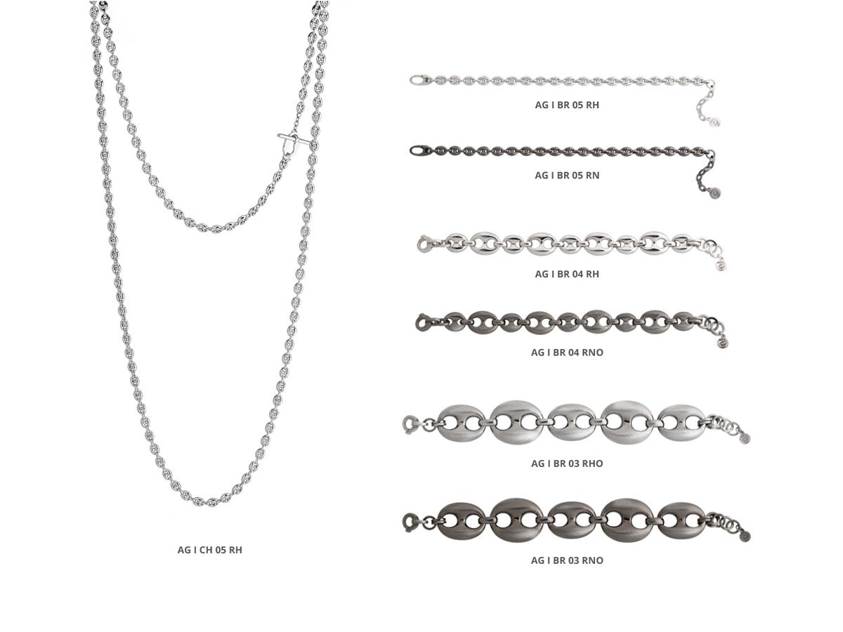 Silver Necklace Bracelets Icon Collection 81 | ECLAT Preziosi