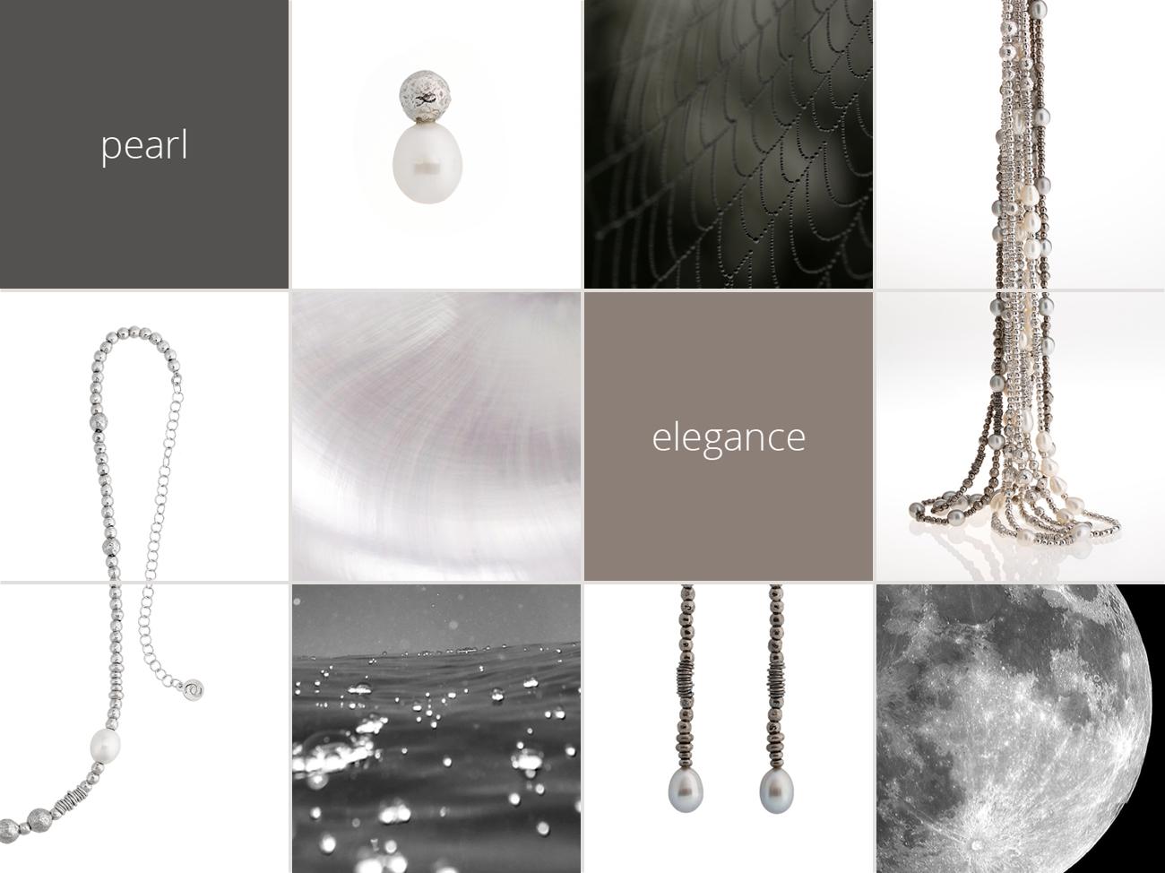 Collezione Boule Pearl Moodboard | ECLAT Preziosi